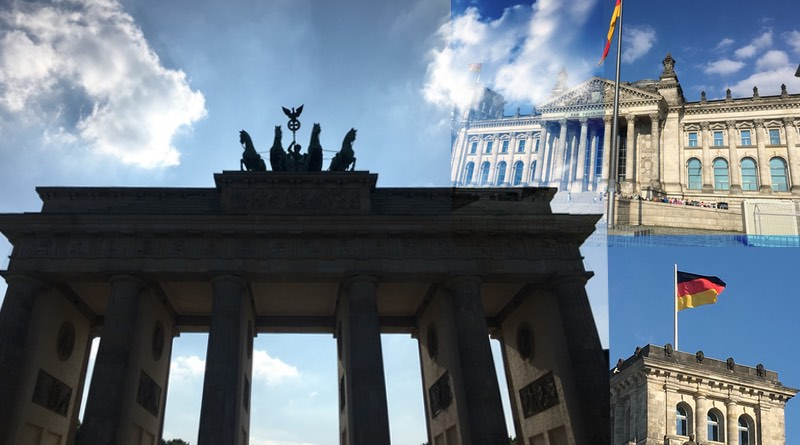 Motorhome road trip holiday to Berlin Germany. Brandenburg gate and the Reichstag