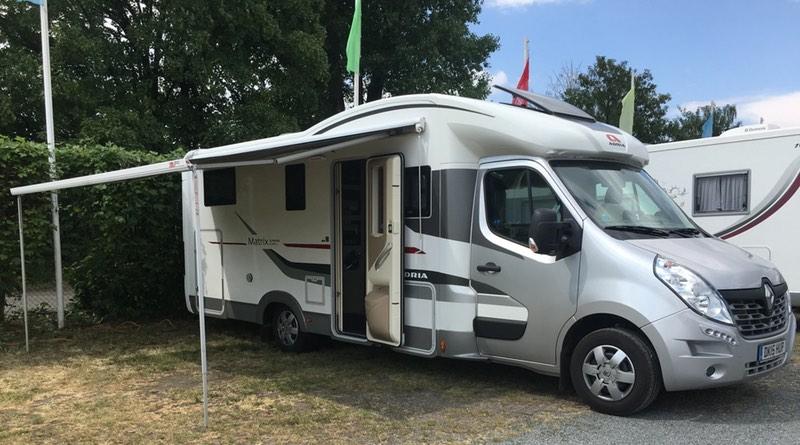 Motorhome caravan camping prague