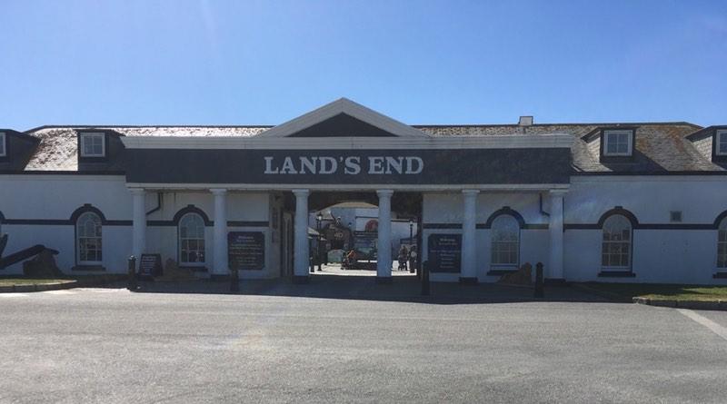 Lands End Cornwall. Motorhome holiday road trip