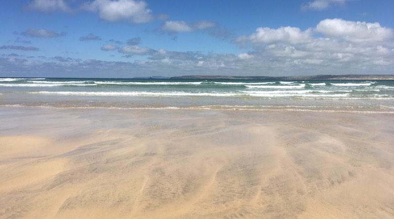 Beaches at St Ives, Cornwall. Motorhome holiday road trip.