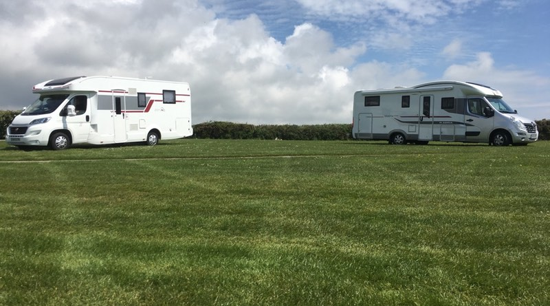 Treverven touring park, St Buryan, Penzance, Cornwall. Motorhome holiday road trip.