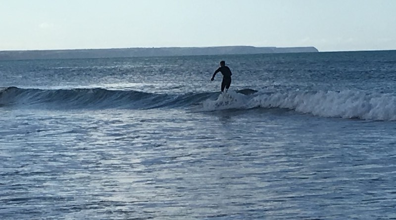 surfing at Praa Sands is located half way between the towns of Penzance and Helston Cornwall