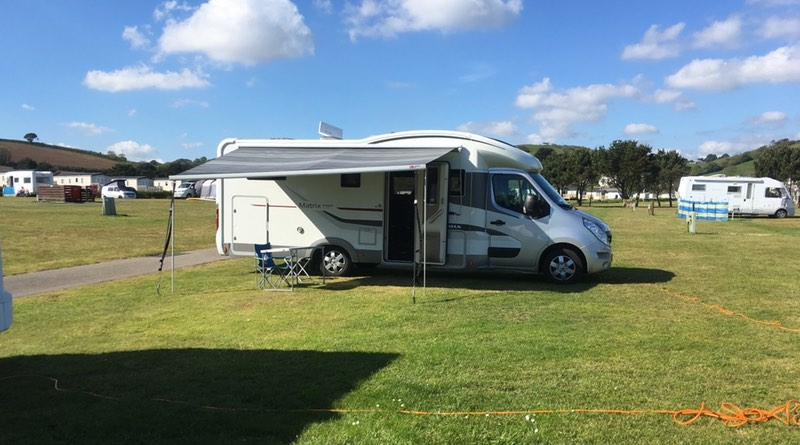 Pentewan Sands Holiday park, situated in Pentewan, St Austell, Cornwall. Large Pitches