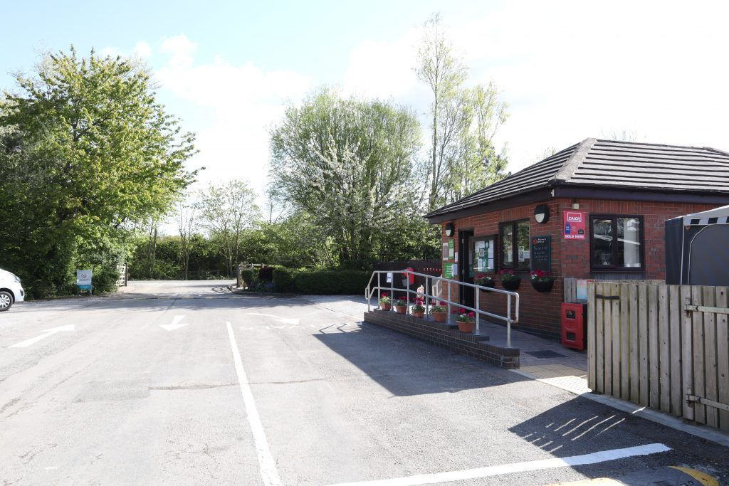Wirral Country Park CAMC reception. Wirral Country Park Caravan Motorhome club CAMC. Motorhome holiday